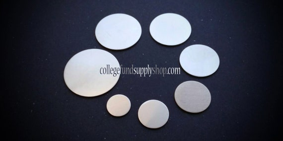 "1/2"" pewter stamping blank 18g SET OF 3,  1/2"" round disc, jewelry supply, for etching, metal supply shop, jewelry supply, hand stamping"