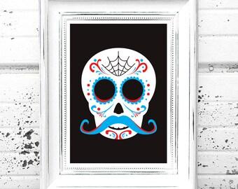 Candy Skull Print
