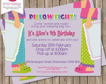 Sleepover/Slumber Party Invitation | You Print