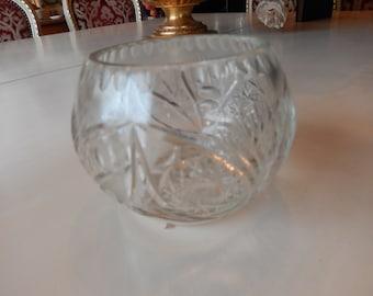 CUT GLASS ROSE Bowl