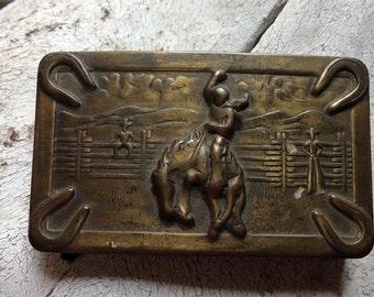 Vintage Rodeo Rider Belt Buckle