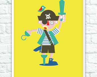 Limited Edition Pirate Boy Print - 20 off each size available