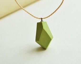 ceramic necklace, geometric beaded necklace