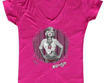 Marilyn Monroe Cowgirl - Ladies' V-neck