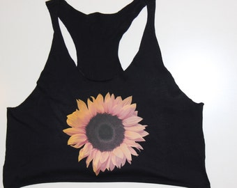 Sunflower Crop Top Tank