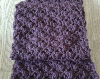 Purple (eggplant) crochet scarf