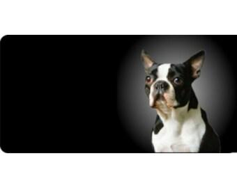Boston Terrier Dog Photo License Plate - LPO508