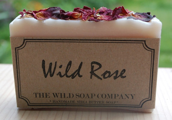 Handmade Wild Rose Soap with Poppy Seeds