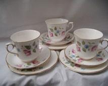 Queen Anne Bone China Trio