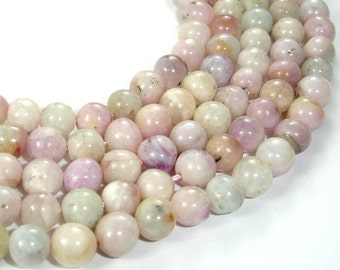 Kunzite Beads, Round, 6 mm (6.5 mm), 15 Inch, Full strand, Approx 60 beads, Hole 1 mm (293054004)