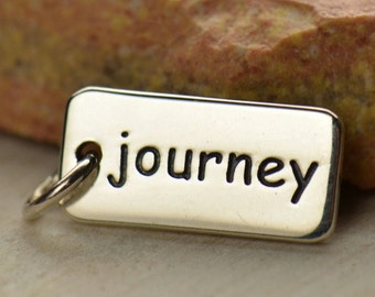 Sterling Silver, Journey, Word Charm, Silver Word Charm, Journey Charm, Silver Journey, Travel Charm, Travel Jewelry, Journey Jewelry