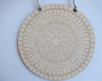 Hanging Mandala Wall Decor.Laser Cut Mandala Plate.Mandala Coloring.Mandala Art Therapy.Decorative Mandala Plate.Mandala Cutout-m006h