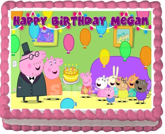 Full Sheet Cake Topper Peppa Pig