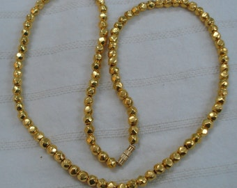 22k gold beads necklace gold beads chain gold necklace handmade