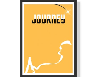 Journey video game - Premium A2 LARGE Poster Print