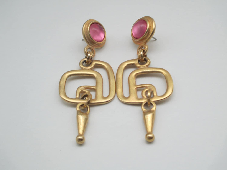 vintage deco earrings statement earrings by