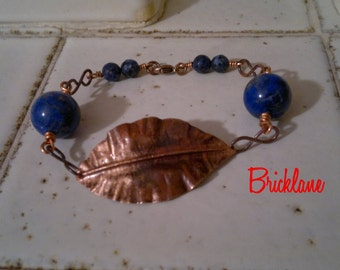 Copper bracelet Autumn