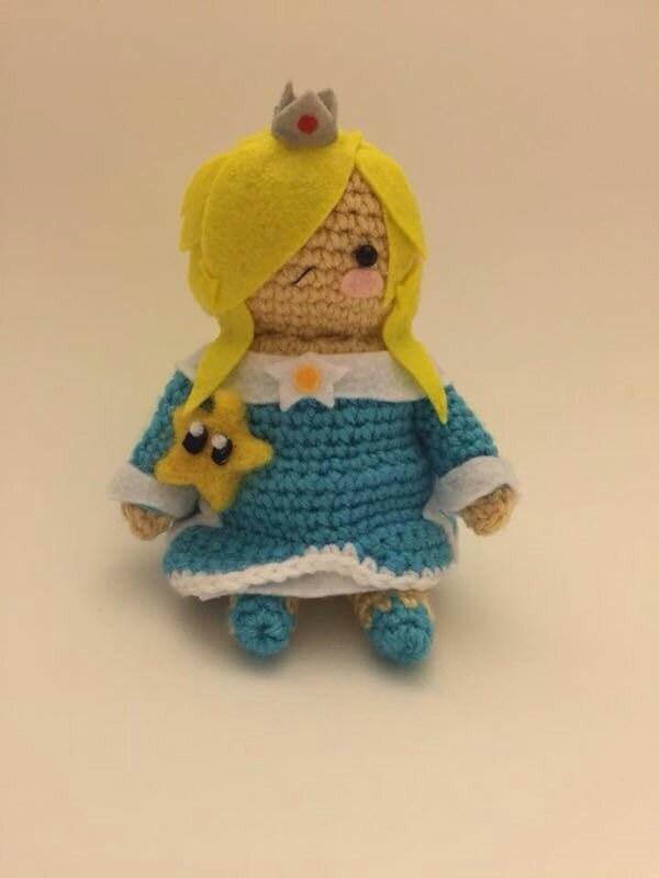 Baby Mario Amigurumi : Rosalina and Luma from Super Smash Bros and Super Mario Galaxy