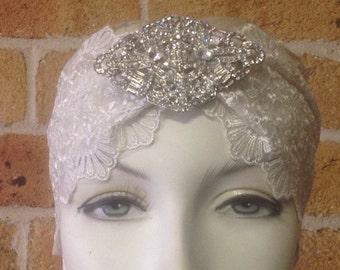 Candice; Juliet bandeau cap, bridal cap, bridal accessories, cap veil, bridal turban