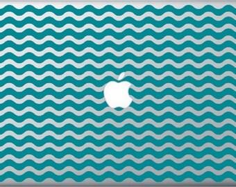 Nautical Waves MacBook Decal