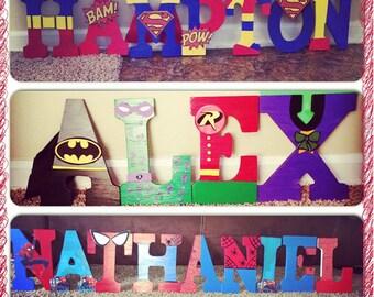 Super Hero Wooden Letters