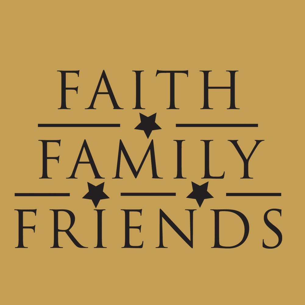 Family Friends Wall Decor : Faith family friends wall art sticker primitive by