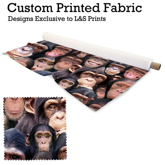 all over monkey design fabric 2 way stretch lycra. Black Bedroom Furniture Sets. Home Design Ideas