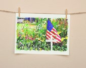 America the Beautiful Downloadable Wall Art - Instant Download