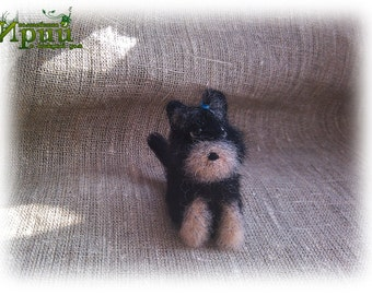 Felting terrier toy Yorkshire Terrier dog Needle Felt