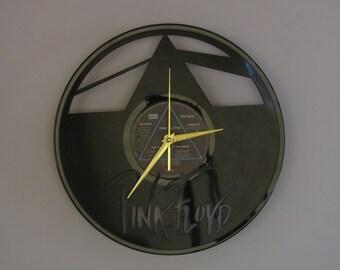 Pink Floyd clock, vinyl record clock, pink floyd, Pink floyd dark side of the moon, pink floyd art, wall clock, vinyl clock