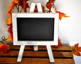 easel chalkboard, small 4x6 easel style chalkboard, rustic frame chalkboard, wedding chalkboard