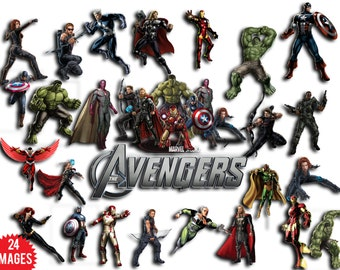Marvel ,Avengers superheros Hulk, Iron Man, Captain America, Black Widow, Falcon, Quicksilver, Thor and Vision for instant download