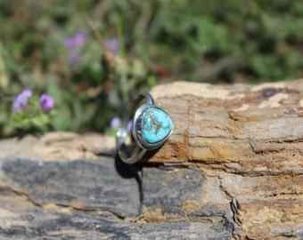 Nevada Turquoise Stacker or Midi Ring