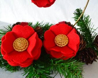 Vibrant Red Felt Ornament