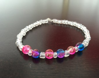 Colorfully beaded bracelet