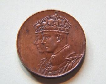 Canada 1939 Royal Visit of King George VI & Queen Elizabeth Medal
