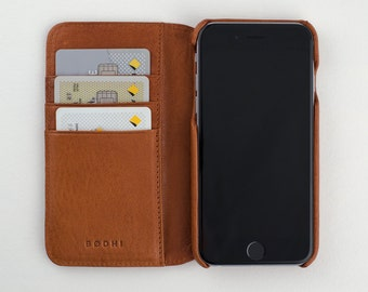 Tan Leather iPhone 6 | 6s Wallet Case.