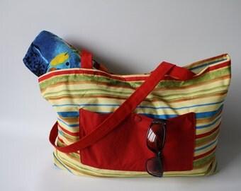 """Beach bag, beach bag, travel 20 """"x 14 1/2"""""""