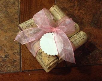 Wine Cork Coaster Set Wedding Favors