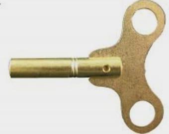 Brass #3 Single End Clock Winding Key - 3.00mm 29581