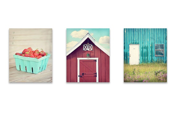 Rustic Wall Art Farmhouse Wall Decor SET by LightSong graphy