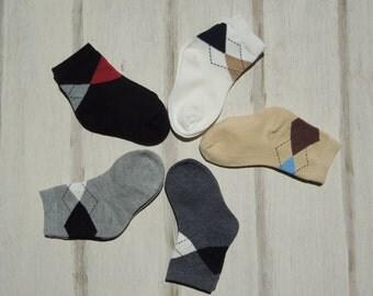 Argyle Socks, Socks for Boys, Retro Vintage Boys Socks, Dress Socks, First Holy Communion Socks, Church Socks, Dapper Socks