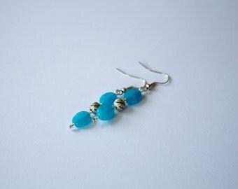 Blue Bead Earrings Dangle & Drop Earrings