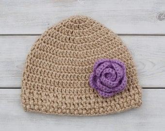 Flower Crochet Hat (any colors!)