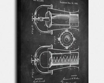 Wine Cooler Canvas, Wine Cooler Patent, Wine Cooler Vintage, Wine Cooler Blueprint, Wine Print, Wine Prints, Wine Wall Art, Wine Decor