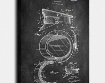 Police Hat  Canvases, Patent, Vintage Art, Blueprint, Poster, Wall Art, Décor