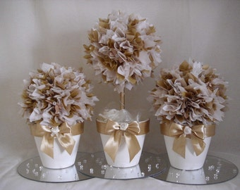 TISSUEPAPER TOPIARY TREES Wedding Christening Table Centrepiece Decoration