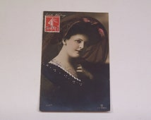 1909 philatelic edith whitney postcard with Trebizonde Turquie d'Asie cancel on french 10c stamp