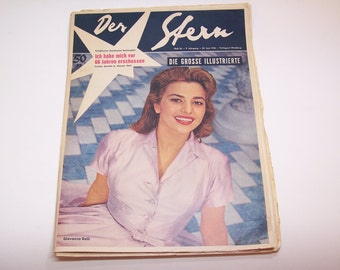 1956 Der Stern german magazine 9th year issue 26 - 30 june 1956 with Giovanna Ralli cover