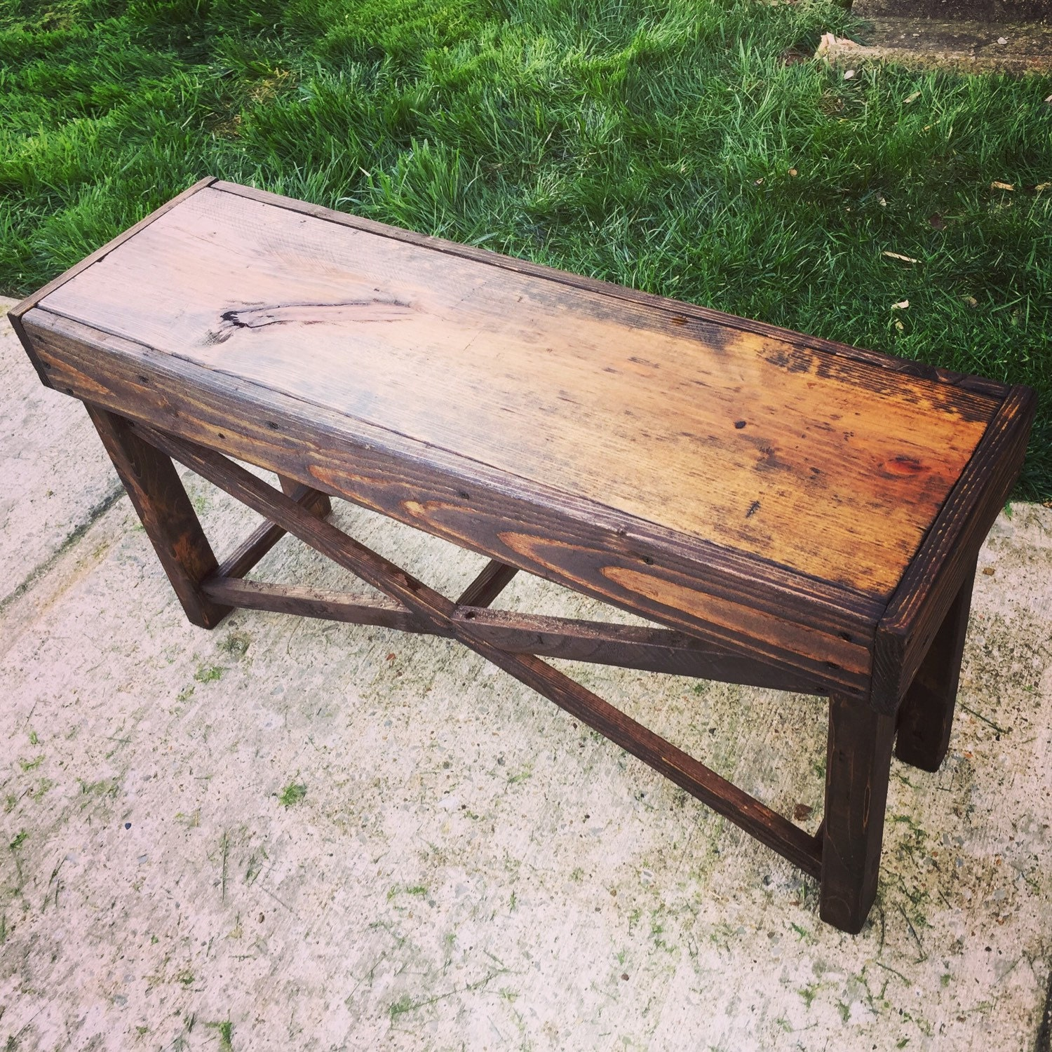 Reclaimed Handmade Wood Bench Furniture By Salvagedandsaved
